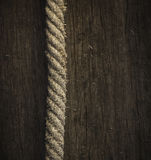 Rope on wood Royalty Free Stock Photos