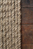 Rope And Wood Royalty Free Stock Images