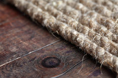 Rope On Wood Royalty Free Stock Photography