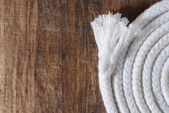 Rope on wood Royalty Free Stock Photo