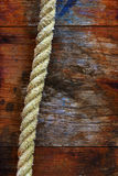 Rope on Wood Royalty Free Stock Image