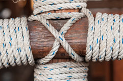 Rope on the wood Royalty Free Stock Photos