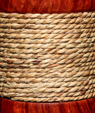 Rope. On wood and pattern Stock Images