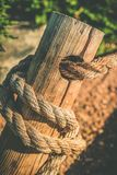 Rope and Wood Stock Images