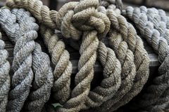 Rope wooden boat stock images