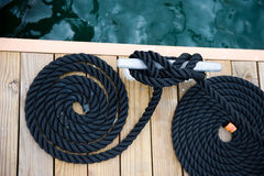 Rope of yacht Royalty Free Stock Photo