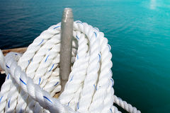 Rope on yacht Royalty Free Stock Images