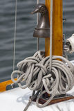Rope on a yacht in close up , detail Royalty Free Stock Photos
