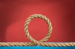 Rope yarn. Border twine closeup isolated bundle string Stock Images
