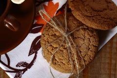 Roped homemade oatcakes Stock Photography