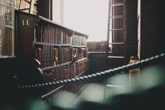 Roped section de vieille bibliothèque Photographie stock libre de droits
