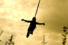 Ropejumper silhouette Royalty Free Stock Photos