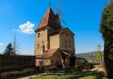 Ropemakers Tower in Sighisoara - Turnul Franghierilor din Sighisoara Royalty Free Stock Photo