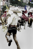 Roper. Parade goer in San Antonio Texas performing rope tricks Stock Photography