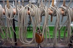 ropes сосуд sailing Стоковое фото RF