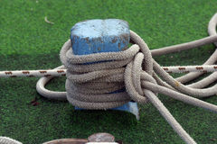 Ropes. Rope of boat knotting, detail Royalty Free Stock Photo