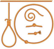 Ropes. Set -solated design elements: gibbet, knot, loop, spiral -vector include stock illustration