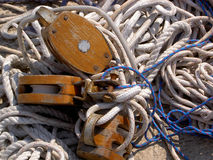 Ropes. Nautical ropes at Korkula (Croatia Stock Photos