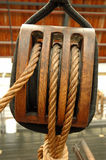 Ropes. Sailing ship detail royalty free stock photos