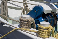 Ropes. On deck from a ship Royalty Free Stock Photography
