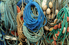 Ropes. In the Port of Helgoland, Germany royalty free stock images
