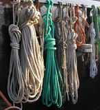 Ropes. On a fisherman boat Royalty Free Stock Image