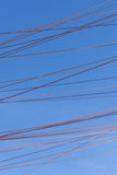 Ropes across the sky Royalty Free Stock Images