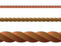 Ropes against white background Royalty Free Stock Images