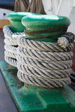 Ropes on an ancient sailing vessel Royalty Free Stock Photography