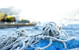 Ropes And Gear For Fishing Royalty Free Stock Photos