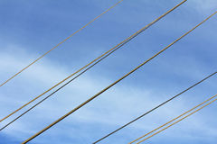 The ropes on blue sky Royalty Free Stock Photography