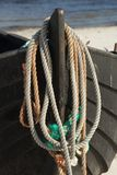 Ropes on a boat Royalty Free Stock Photography