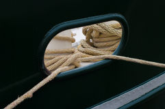 Ropes on boat Stock Photo