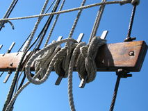 Ropes on Boat Stock Photography
