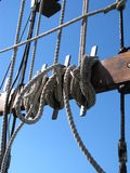 Ropes on Boat Royalty Free Stock Photo