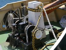 Ropes on a boat Stock Photos