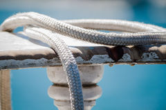 Ropes of a boat Royalty Free Stock Photography