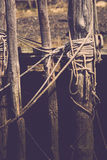 Ropes on Boat Docks Stock Image
