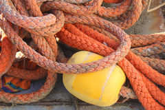 Ropes for boats Stock Images