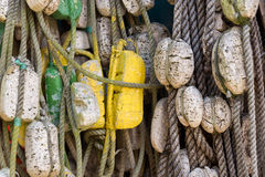 Ropes and buoys Royalty Free Stock Photos