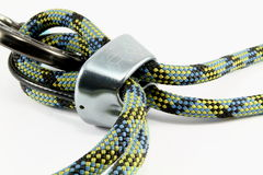 Ropes, Caribiner & Belay Device Stock Photos