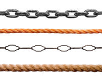 Ropes and chains Stock Photography