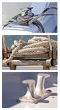 Ropes and cleats Royalty Free Stock Photos