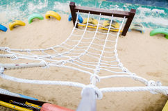 Ropes on climbing frame Stock Image