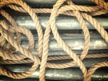 Removal ropes Royalty Free Stock Photo