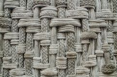 Ropes construct patterns in grey colour. A Ropes construct group of yarns, plies, fibers or strands patterns in grey colour royalty free stock photos