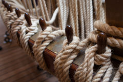 Ropes Control The Sails Royalty Free Stock Photo