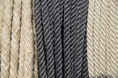 Ropes cord in row as a background Royalty Free Stock Photo