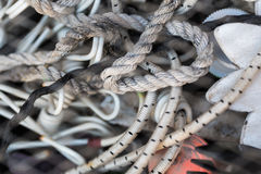 Ropes and cords closeup Royalty Free Stock Photography