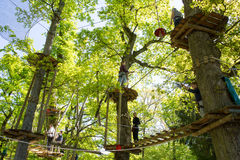 Ropes course Stock Image